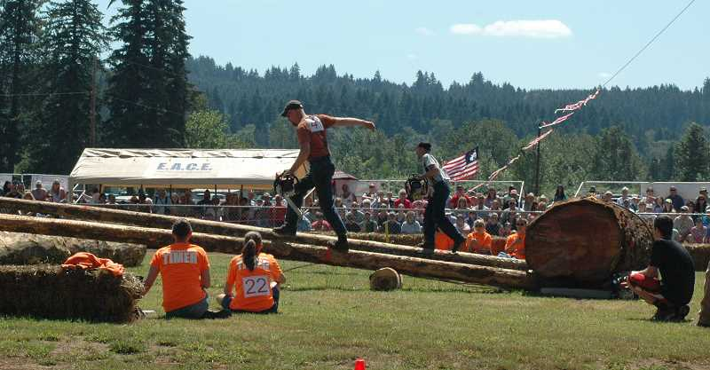 by: ESTACADA NEWS PHOTO: ISABEL GAUTSCHI - All of the Fourth of July fun is consolidated in one day this year. The Chamber parade, Timber Festival and Big Bang Fireworks show are bound to draw crowds.