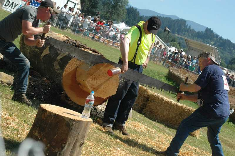 by: ISABEL GAUTSCHI - The Timber Festival features a variety of logging competitions.