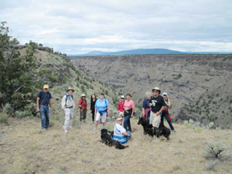 by: SUBMITTED PHOTO - Eleven people participated in a FANs hike to the Peninsula area, near Cove Palisades State Park on June 15. The group plans another hike July 19.