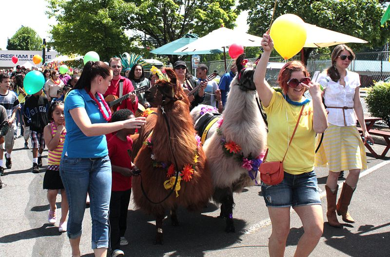 by: CONTRIBUTED PHOTO - The Rock the Block Kids Parade will include llamas as well as other colorful marchers.