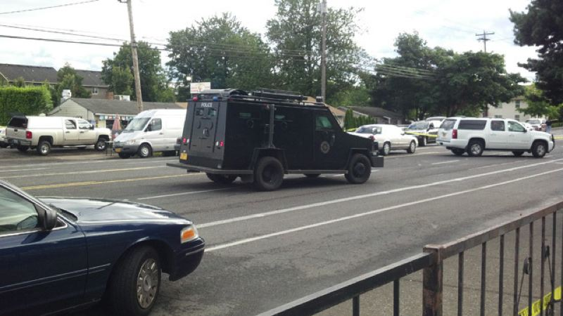 by: KOIN NEWS 6 - SERT and police respond to shooting in 2500 block of 141st Avenue on Friday, June 27.