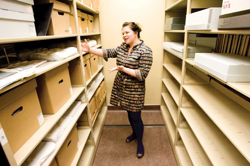 by: KEVIN SPERL  - Bowman Museum Collection Care Manager Brittany Shunk explains how she manages the archival storage room at the museum.