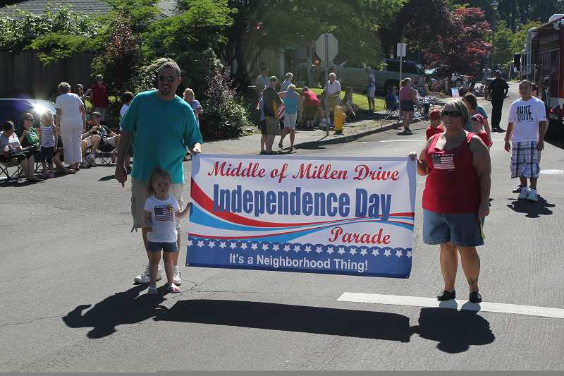 Millen Drive has been hosting its small neighborhood parade for close to two decades, making a big deal out of old fashioned neighborhood pride.