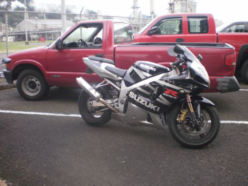 by: COURTESY OF OREGON STATE POLICE - Police released this photograph of the 2003 Suzuki motorcycle they say Michael Tejada Echeverria, 19, drove at high speed along Highway 30 while attempting to elude a traffic stop.