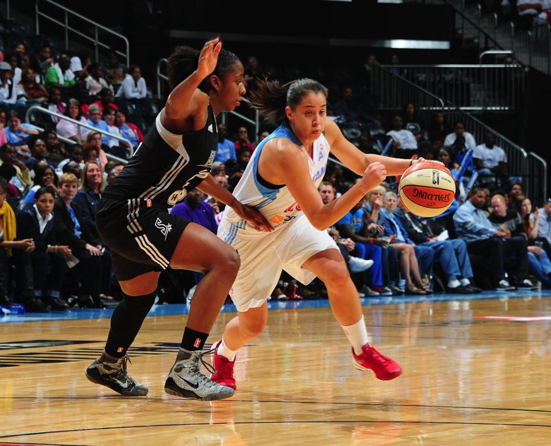 by: COURTESY OF ATLANTA DREAM - Shoni Schimmel, the former Franklin High sensation and Louisville All-American, is a favorite with WNBA fans and has been a productive first substitute for the Atlanta Dream as a rookie combo guard.