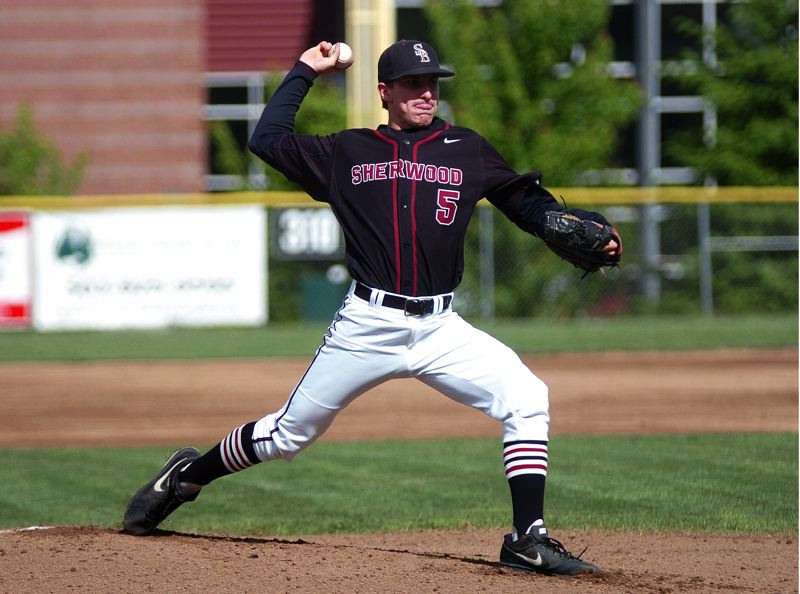 by: DAN BROOD - TOP HURLER -- Sherwood's Riley Moore was named the Class 5A Pitcher of the Year.