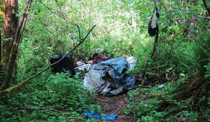 by: CONTRIBUTED PHOTO: CITY OF GRESHAM - Homelessness is a problem in Gresham and police are removing homeless camps like this one near the Springwater Corridor Trail while the city is part of a new countywide board to find solutions for homeless residents.