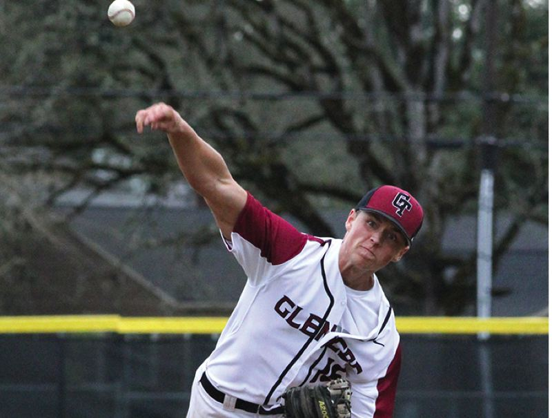 by: HILLSBORO TRIBUNE PHOTO: AMANDA MILES - Glencoe senior Kyle Campbell was a first team Pacific Conference  all-star selection as an infielder and a second team pick as a pitcher.