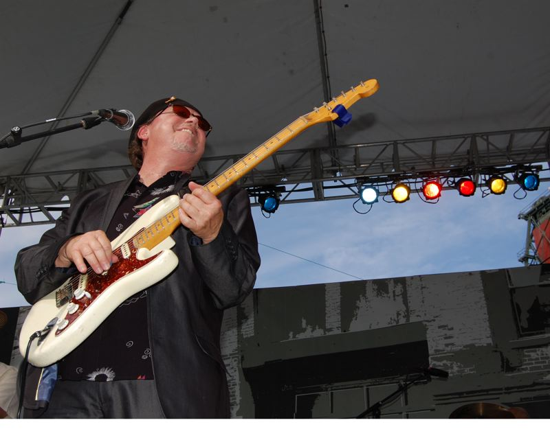 by: TRIBUNE PHOTO: KEVIN ANSPACH - Longtime Portland blues guitarist Lloyd Jones performed Thursday evening with his band, The Struggle, during the Safeway Waterfront Blues Festival. Jones is a fixture in the Portland-area blues scene.