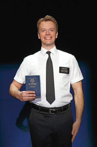 by: PHOTO COURTESY OF JOAN MARCUS - Portland's David Larsen plays Elder Price in The Book of Mormon, which plays at Keller Auditorium, July 8 to 20.