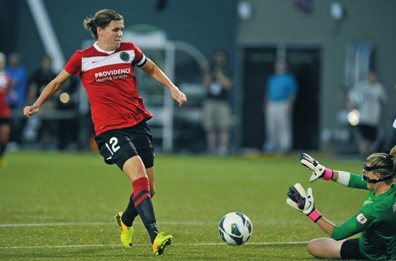 by: COURTESY OF JOHN LARIVIERE - Forward Christine Sinclair has scored only two goals in 13 games for the Portland Thorns, who are 6-6-3 in defense of their National Womens Soccer League title going into a Wednesday road game against the Chicago Red Stars.