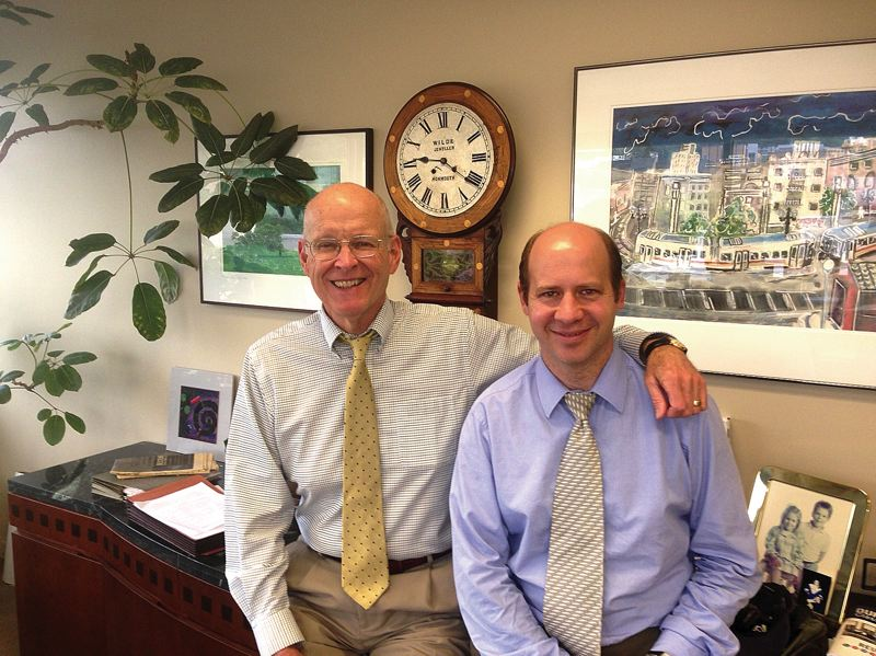 by: PHOTO: MERRY MACKINNON - Attorney and SAGE Founder Ward Greene and SAGE Executive Director Steve Higgs seek to improve life for future generations by engaging the volunteer efforts of older adults.