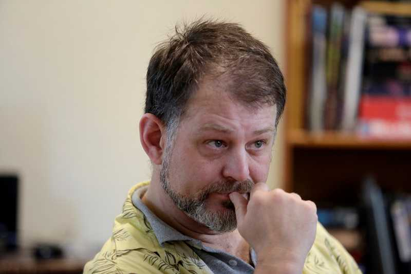 by: TIMES PHOTO: JONATHAN HOUSE - Aloha resident Clayton Callahan is the author of the ebook, 'Tales of Screaming Eagle, The Legend of Kilroy.'