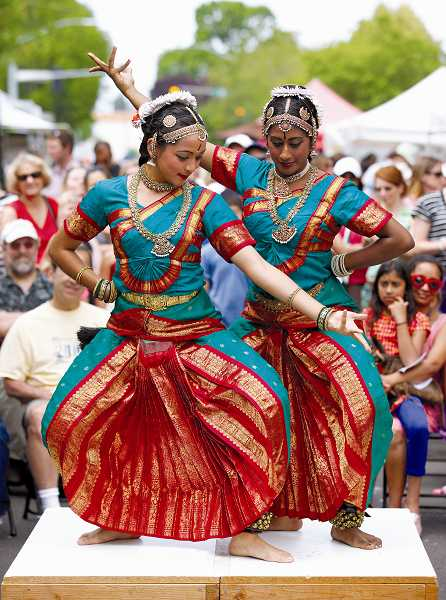 by: TIMES FILE PHOTO: JONATHAN HOUSE - Priya Judge and Nandita Vanka perform 'Anandha Tandav: The Joyous Dance of Shiva and Shakthi' at the Beaverton Farmers Market as part of the annual Ten Tiny Dances event.