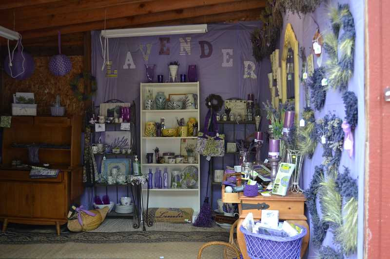 by: CINDY FAMA - A glimpse at some of the merchandise inside the Lavender Shoppe at The Meadow of Lavender.