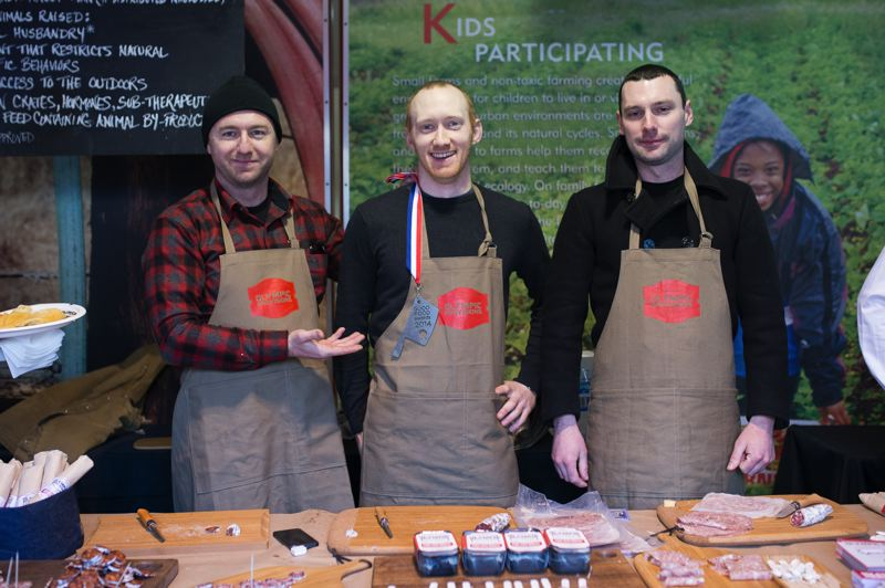 by: CONTRIBUTED BY: MARC FIORITO, GAMMA NINE PHOTOGRAPHY - The team from Olympic Provisions at the Good Food Marketplace.