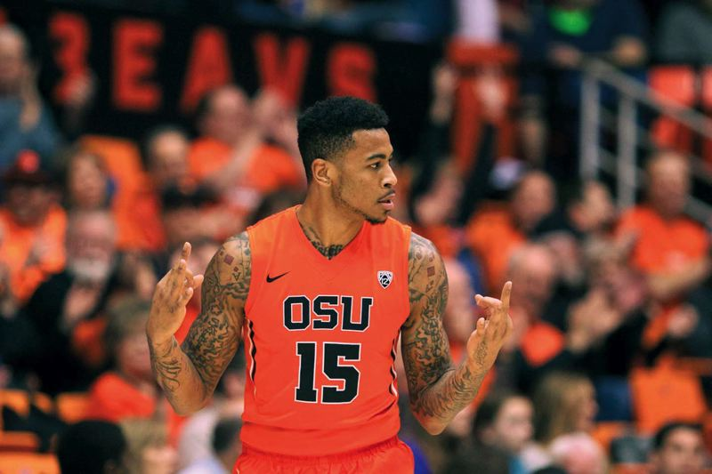 by: TRIBUNE FILE PHOTO: JAIME VALDEZ - Power forward Eric Moreland, who left Oregon State with one year of eligibility remaining, has been seeing summer league action with the Sacramento Kings in his bid to make an NBA roster.