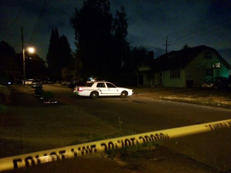 by: KOIN NEWS 6 - A Portland police squad car secures a crime scene in Northeast following a domestic violence incident.