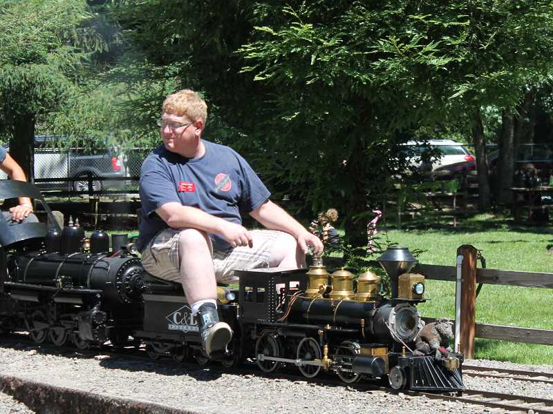 by: JIM BESEDA/MOLALLA PIONEER - Patrick Duling, president of the Northwest Live Steamers, first came to the Molalla Train Park more than 30 years ago when he was in the third grade.
