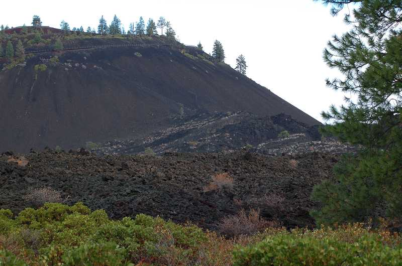 by: SCOTT STAATS SPECIAL TO THE CENTRAL OREGONIAN - The base of Lava Butte's south side is the source of the huge lava flow.