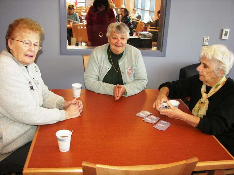 by: SUBMITTED PHOTO - Playing games and cards can be beneficial to your health. A variety of games are played on a regular basis at the Lake Oswego Adult Community Center.
