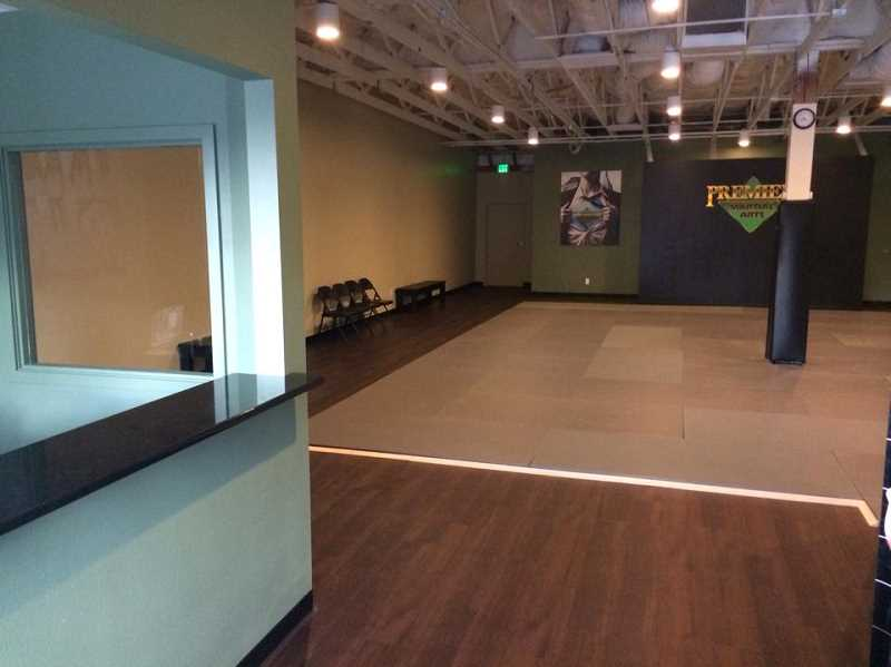 Photo Credit: SUBMITTED PHOTO - Premier Martial Art's new space at the Robinwood Center is freshly fitted with a raised ceiling, vinyl floors and LED lighting.