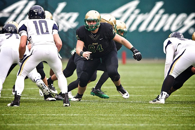 by: TIMES FILE PHOTO - Former Jesuit offensive lineman Charlie Landgraf will spend a postgraduate year at The Hotchkiss School in Connecticut, where hell play a final year of high school football.