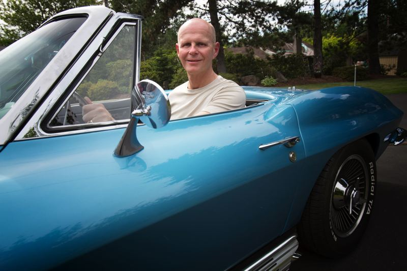 by: TIMES PHOTO: JONATHAN HOUSE - The middle Baldwin, Rick, in his 1965 Corvette.