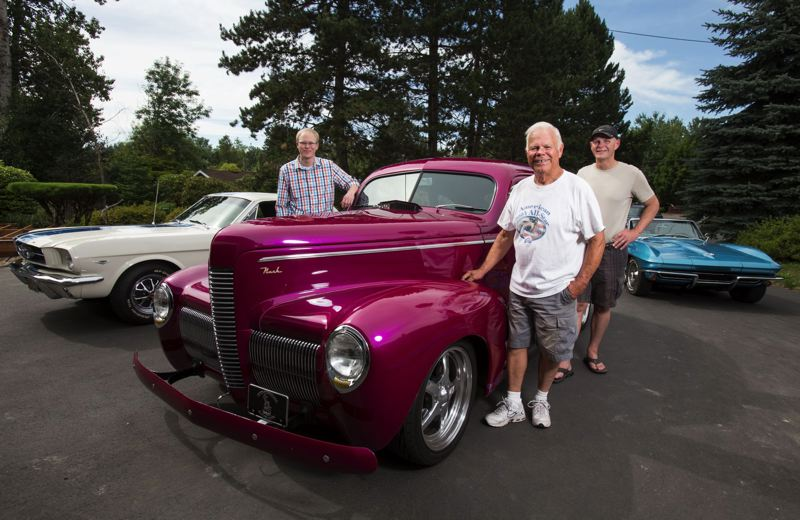 by: TIMES PHOTO: JONATHAN HOUSE - Garrett, Ray and Rick Baldwin all have classic cars.