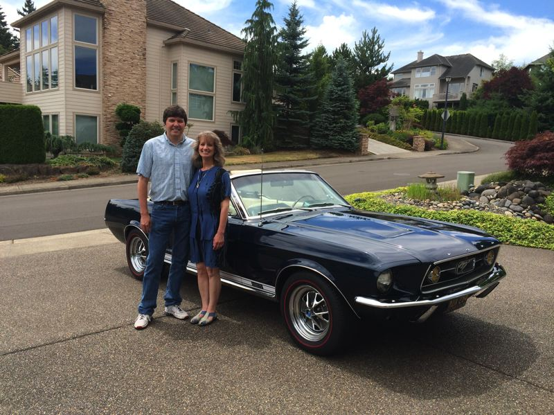 by: TIMES PHOTO: CAITLIN FELDMAN - Kevin and Candace Carsh waited three decades to restore the Mustang that Kevin bought right after graduating high school.