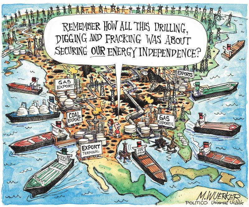 by: COPYRIGHT MATT WUERKER - Matt Wuerker, a former Portlander who is now a cartoonist for Politico, won the 2012 Pulitzer Price for editorial cartoons. Wuerker made these cartoons available to Sustainable Life.