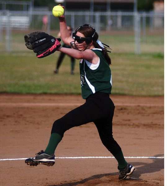 by: DAN BROOD - Kaitlyn Gearin was the starting pitcher for Tigard in the state championship game.