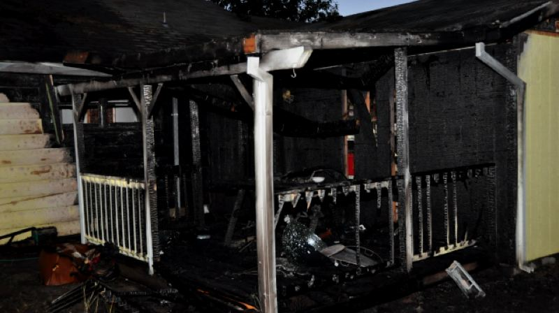 by: HILLSBORO FIRE DEPARTMENT - A fire started from charcoal briquettes that were not properly disposed at this Hillsboro home on July 19.