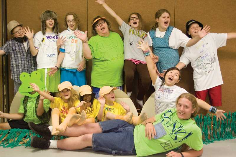 by: KEVIN SPERL  - The cast of Honk! Jr.