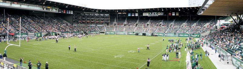 by: COURTESY OF PORTLAND STATE UNIVERSITY - The Portland State Vikings, under Viking Athletic Partnership President David Hersh, hope to boost football attendance significantly at Providence Park.