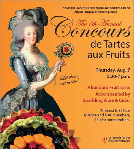 by: SUBMITTED PHOTO - Attend the seventh annual Concours de Tartes aux Fruit Aug. 7.