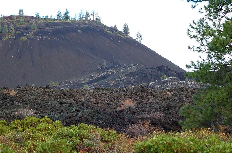 by: SCOTT STAATS PHOTO - The base of Lava Butte's south side is the source of the huge lava flow.