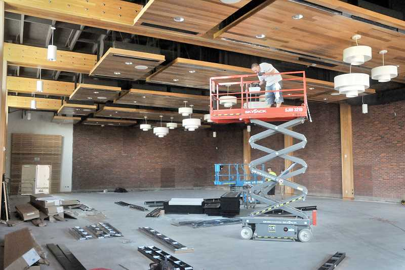 by: GARY ALLEN - Opening soon - Officials say the Chehalem Cultural Center ballroom renovations are nearly complete. To celebrate and unveil the new space there will be a grand opening celebration Aug. 15.