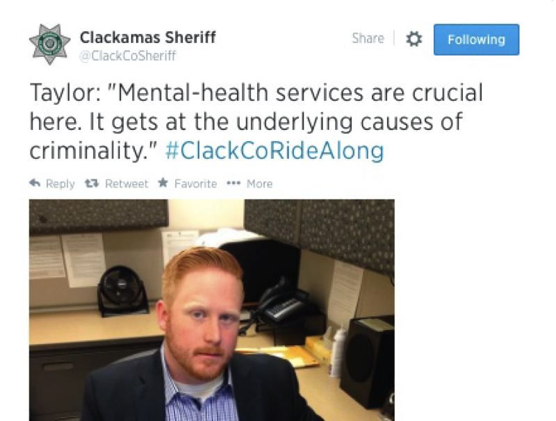 by: @CLACKCOSHERIFF - A tweet from the virtual tour of the Clackamas County Jail.