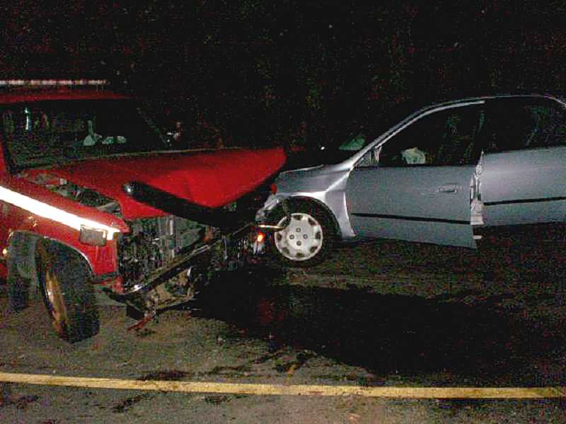 by: OSP - Colton Fire Chief injured in two-car crash Thursday night.