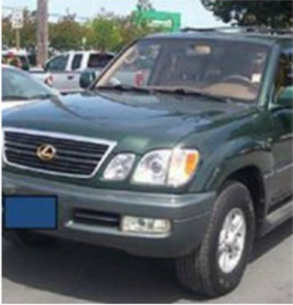 by: COURTESY KOIN 6 NEWS - Jennifer' Huston's 1999 Lexus SUV is similar to this one..