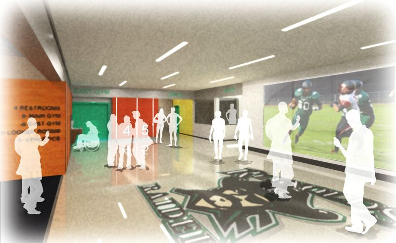 by: CONTRIBUTED ILLUSTRATION: REYNOLDS SCHOOL DISTRICT - A rendering of the renovated Reynolds High School gym complex.