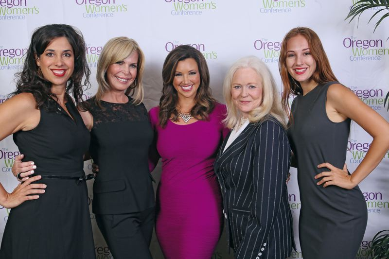 by: COLLEEN CAHILL STUDIOS - Michelle Patterson, CEO of Women Network and Executive Producer of California Womens Conference; Michelle Robson, founder of EmpowHER; Keri Murphy, CEO of Inspired Living and executive producer of Oregon Womens Conference; Sharon Lechter, best-selling author and CEO of Pay Your Family First; Jaclyn Patterson, daughter of Michelle Patterson.