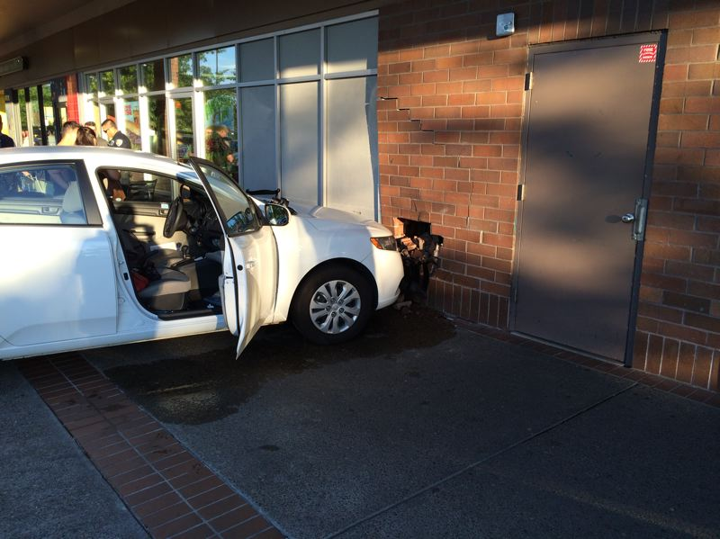 Photo Credit: SUBMITTED PHOTO: BEAVERTON POLICE DEPARTMENT - Teresa Clause, 61, was charged with driving under the influence of intoxicants after crashing her vehicle into a brick wall at the Beaverton Town Square on Tuesday night.