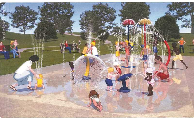 Photo Credit: CITY OF MOLALLA - A conceptual drawing of the Fox Park Splash Pad