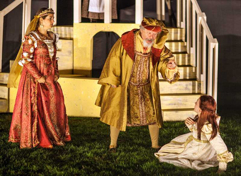 Photo Credit: COURTESY PHOTOS: JIM FOLTS - Last years outdoor Willamette Shakespeare production of Romeo & Juliet was at Stoller Vineyards in Dayton.