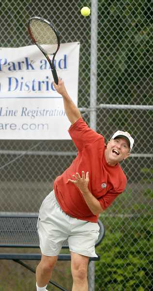 Photo Credit: FILE PHOTO - Return this -- Dany Snyder serves up some heat in a tournament contest from a few years ago.