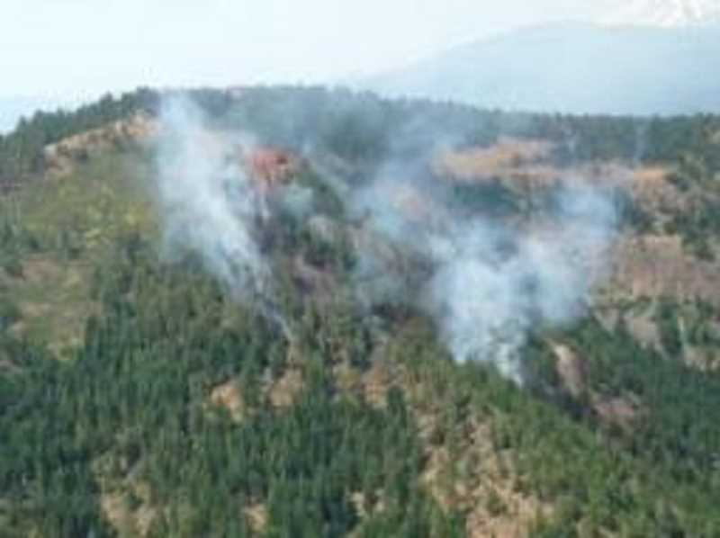 Photo Credit: INCIWEB PHOTO - The Castle Fire is burning in steep terrain in the Metolius River area.