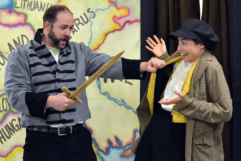Photo Credit: SUBMITTED PHOTO - Actors from Page2Stage Express will present The Adventures of Hershel of Ostropol at 2 p.m. Saturday at Willamette Park. Admission is free, courtesy of a grant from the Oregon Arts Commission and Clackamas County Cultural Coalition.