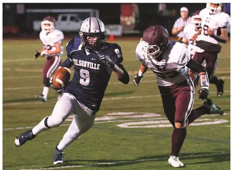 Photo Credit: JEFF GOODMAN - Lane Hull (9) is competing for starting running back responsibillities.